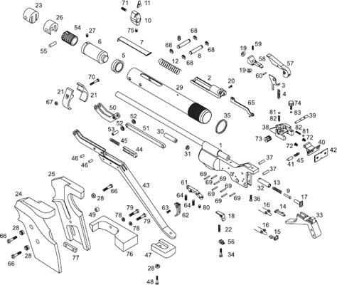 Схема устройства ружья МР-46M
