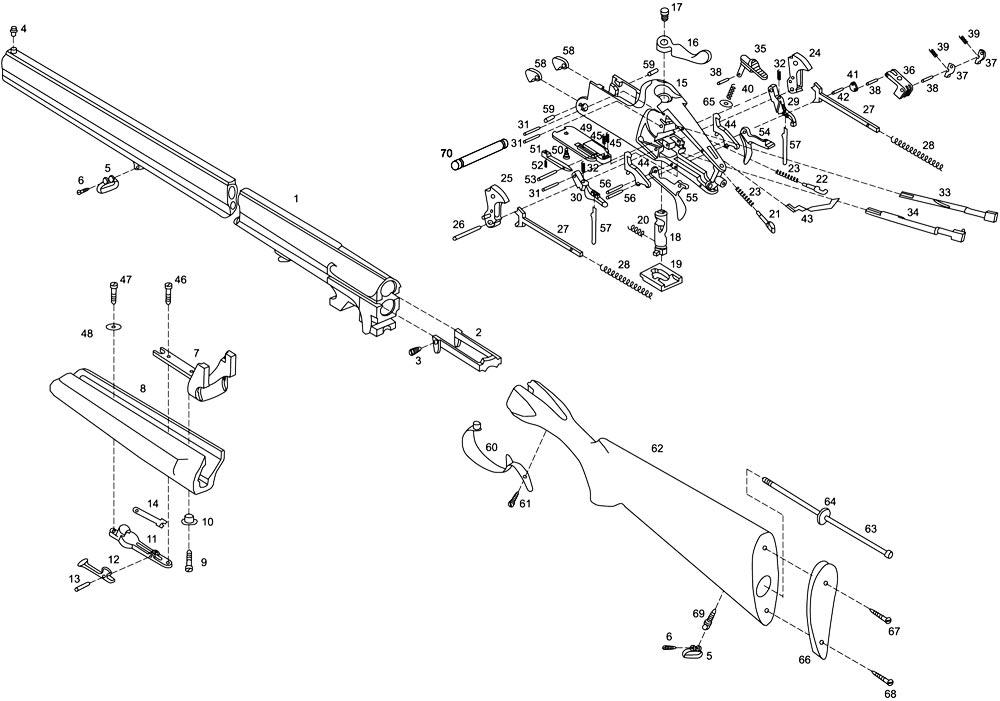 Схема устройства ружья МР-27
