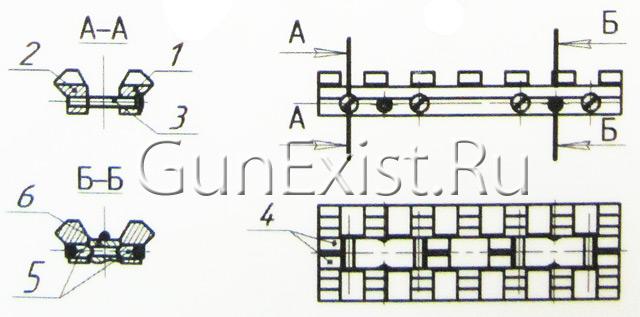 Схема планки ИЖ-27