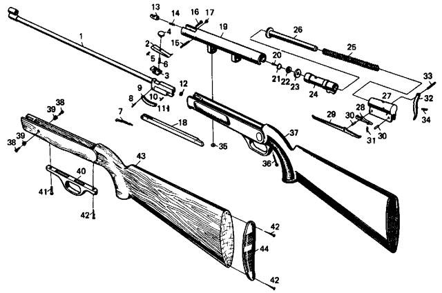 Детали винтовки ИЖ-38С