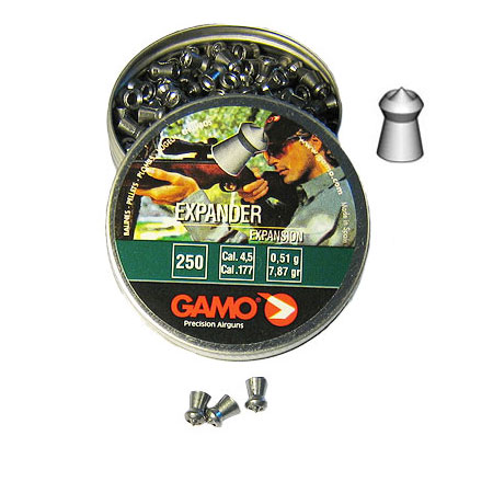 Пули Gamo Expander expansion 4,5 мм (0,511 грамм, банка 250 штук)