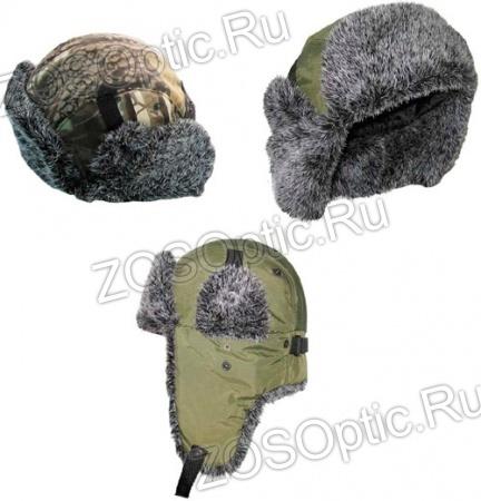 пример вязания шапки-ушанки; - вязание двойной шапочки .