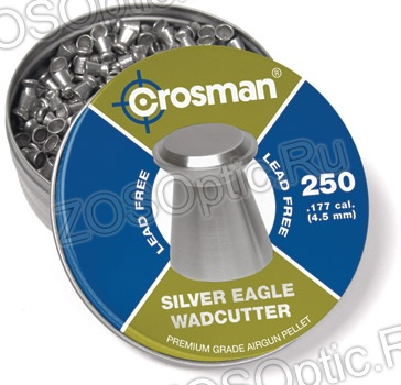 Пули Crosman Silver Eagle WC 4,5 мм (банка 250 шт)