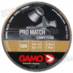 Пули Gamo Pro-Match competition 4,5 мм (0,511 грамм, банка 500 штук)